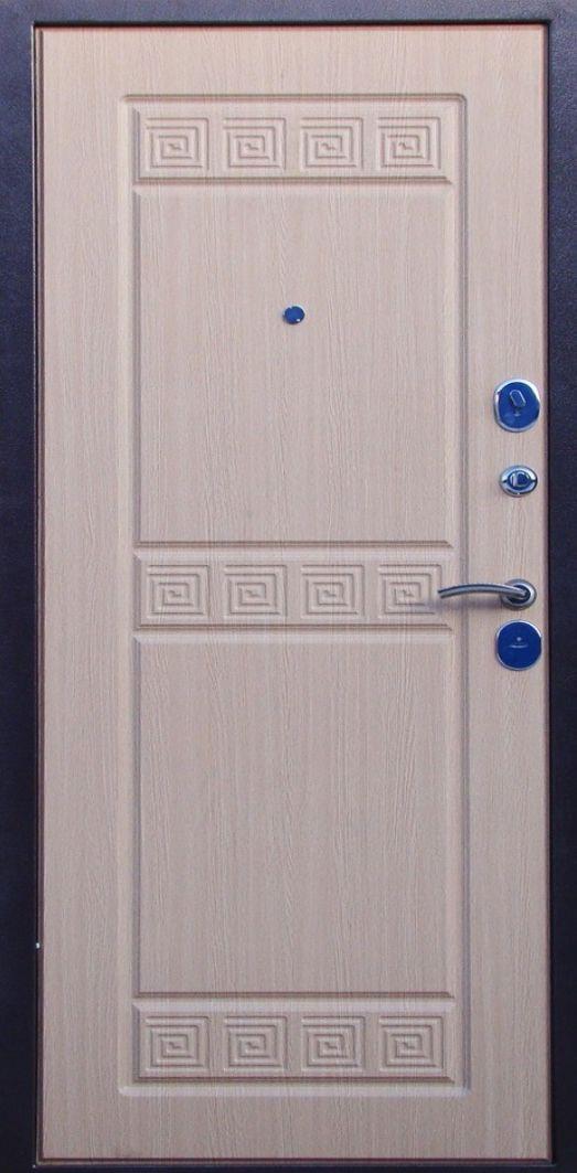 дверь металлическая дуб беленный